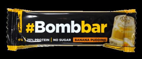 Батончик глазированный `BOMBBAR` Банановый пудинг 40 г