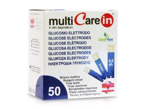 Тест-полоски Мультикэа ин (Multicare-in) Глюкоза № 50