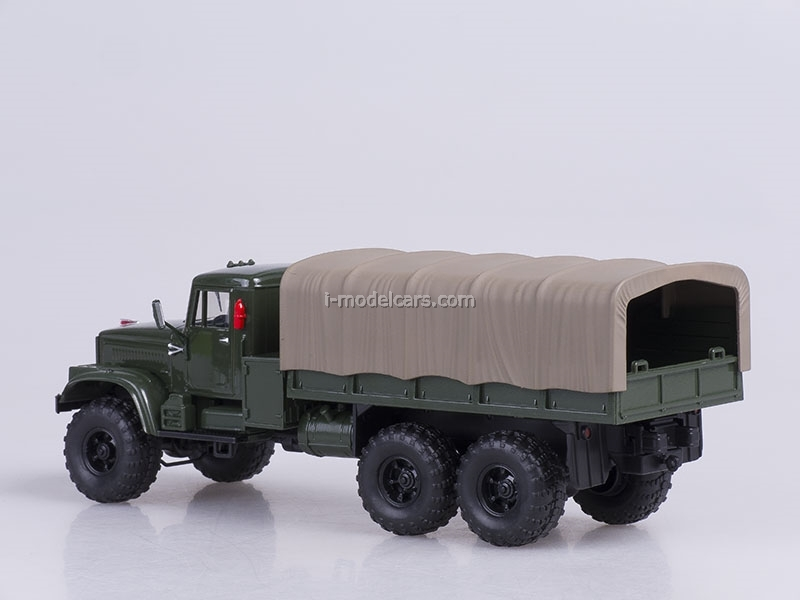 KRAZ-255B board with awning 1979 green 1:43 Nash Avtoprom