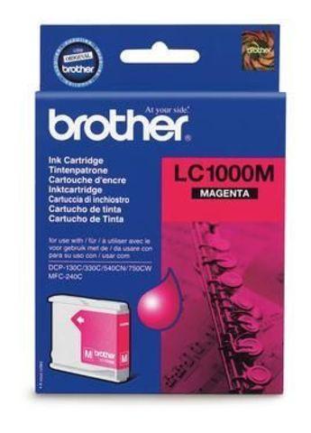 Brother LC1000M пурпурный картридж для МФУ DCP-130C/330С/MFC-240C/5460CN. Ресурс 400 стр. @ 5%
