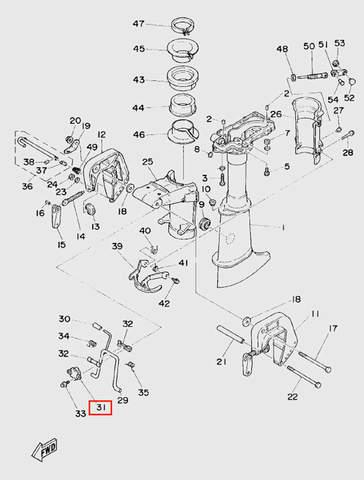 Фиксатор для лодочного мотора T5 Sea-PRO (10-31)