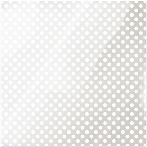 Ацетатный лист с рисунком 30 х30 см -White Dot