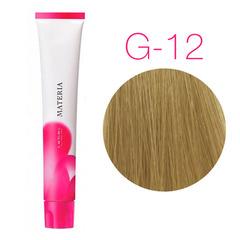 Lebel Materia 3D G-12 (супер блонд жёлтый) - Перманентная низкоаммичная краска для волос