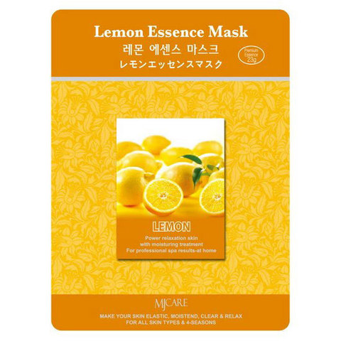 MIJIN Маска тканевая лимон Lemon Essence Mask