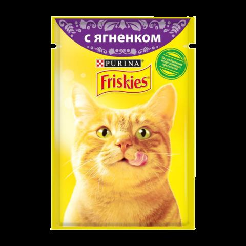 Friskies Консервы для кошек с Ягненком в подливе (Пауч)