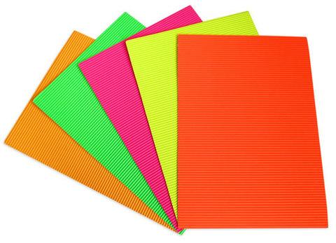 3136 Бумага картон гофра А4 флоуресцентная (10 листов)