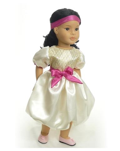 Платье шелковое - . Одежда для кукол, пупсов и мягких игрушек.