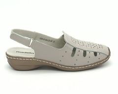 Серые сандали из натуральной кожи на платформе