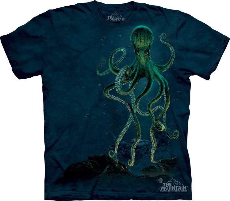 Футболка Mountain с изображением осьминога - Octopus