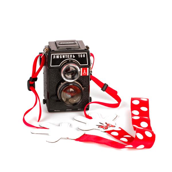"""Ремень для фотоаппарата """"Руки Микки"""" (Красный)"""