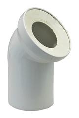 Отвод Rehau Raupiano Plus 110/45° для присоединения выпуска унитаза