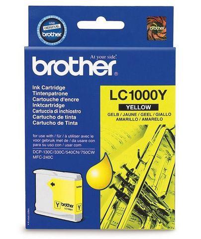 Brother LC1000Y желтый картридж для МФУ DCP-130C/330С/MFC-240C/5460CN. Ресурс 400 стр. @ 5%