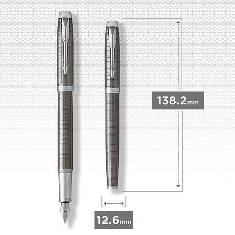 Перьевая ручка Parker IM Premium Dark Espresso Ciselled CT123