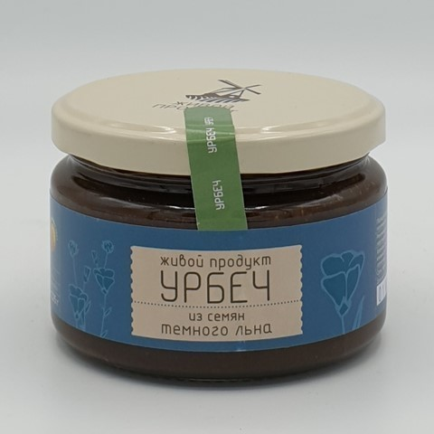 Урбеч из семян темного льна ЖИВОЙ ПРОДУКТ, 225 гр