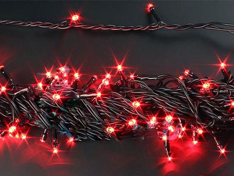 91831-1 Гирлянда красная 100 LED 7,5 м