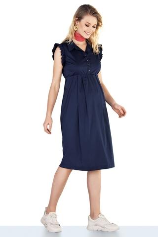 Платье для беременных 10271 синий