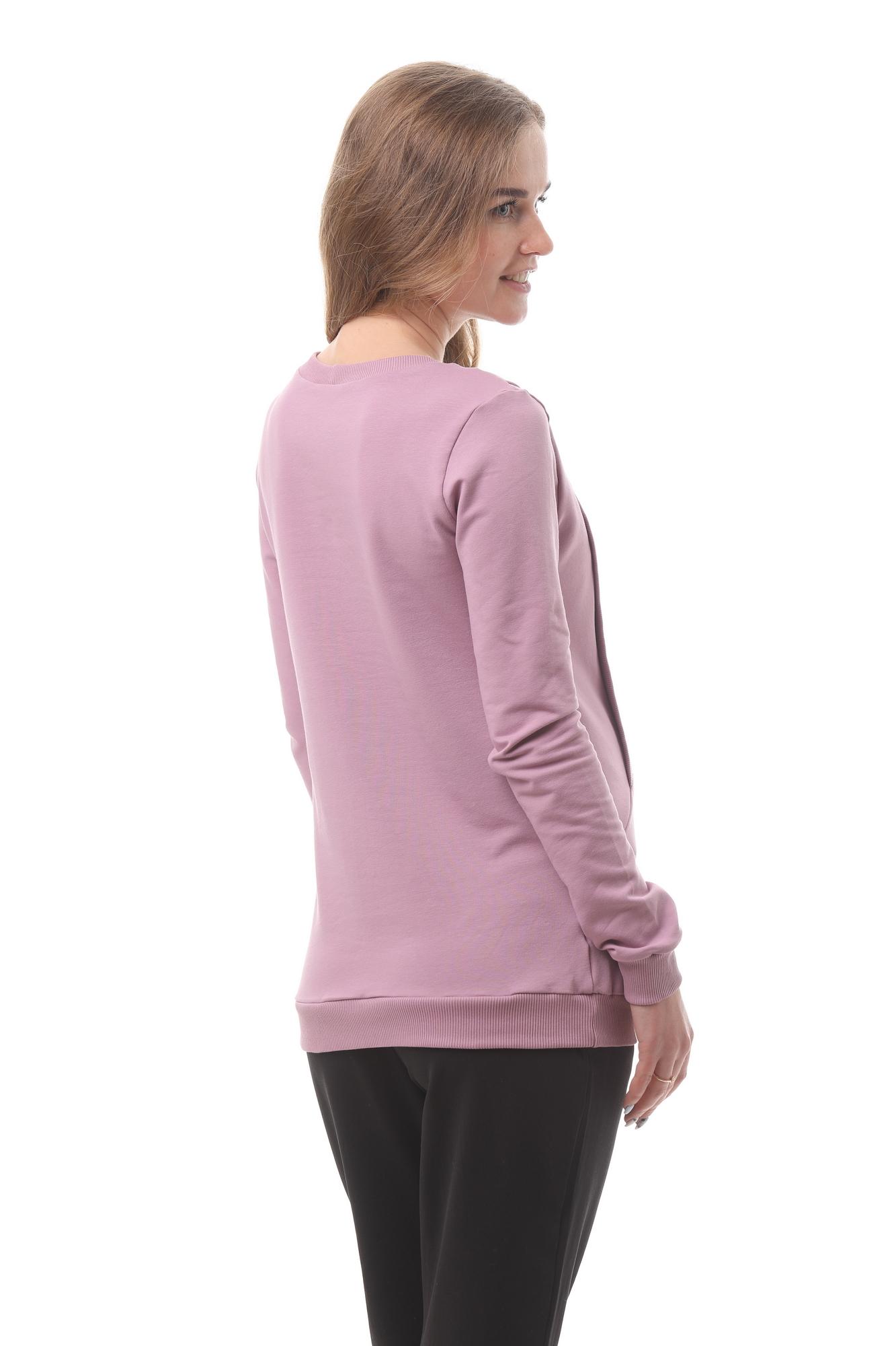 Джемпер для беременных и кормящих 10182 розовый