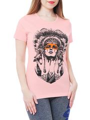 461134-26 футболка женская, розовая