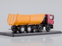 MAZ-6516 tipper U-shaped body red-yellow 1:43 Start Scale Models (SSM)