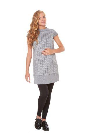 Платье 07461 серый