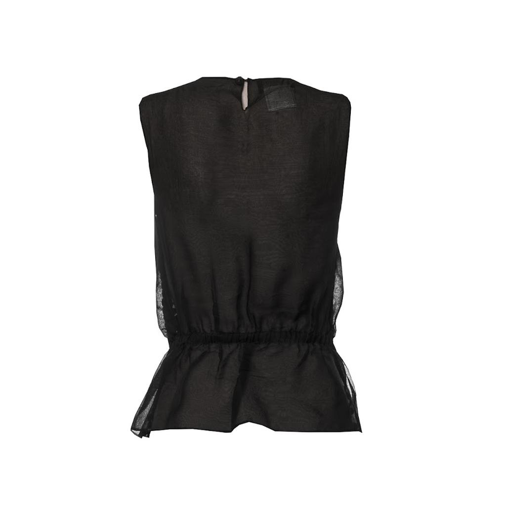 Топ из прозрачного шелка с крупными пайетками от Chanel, 34 размер.