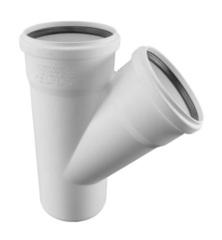 Тройник Rehau Raupiano Plus 110/110/45° для канализационных труб