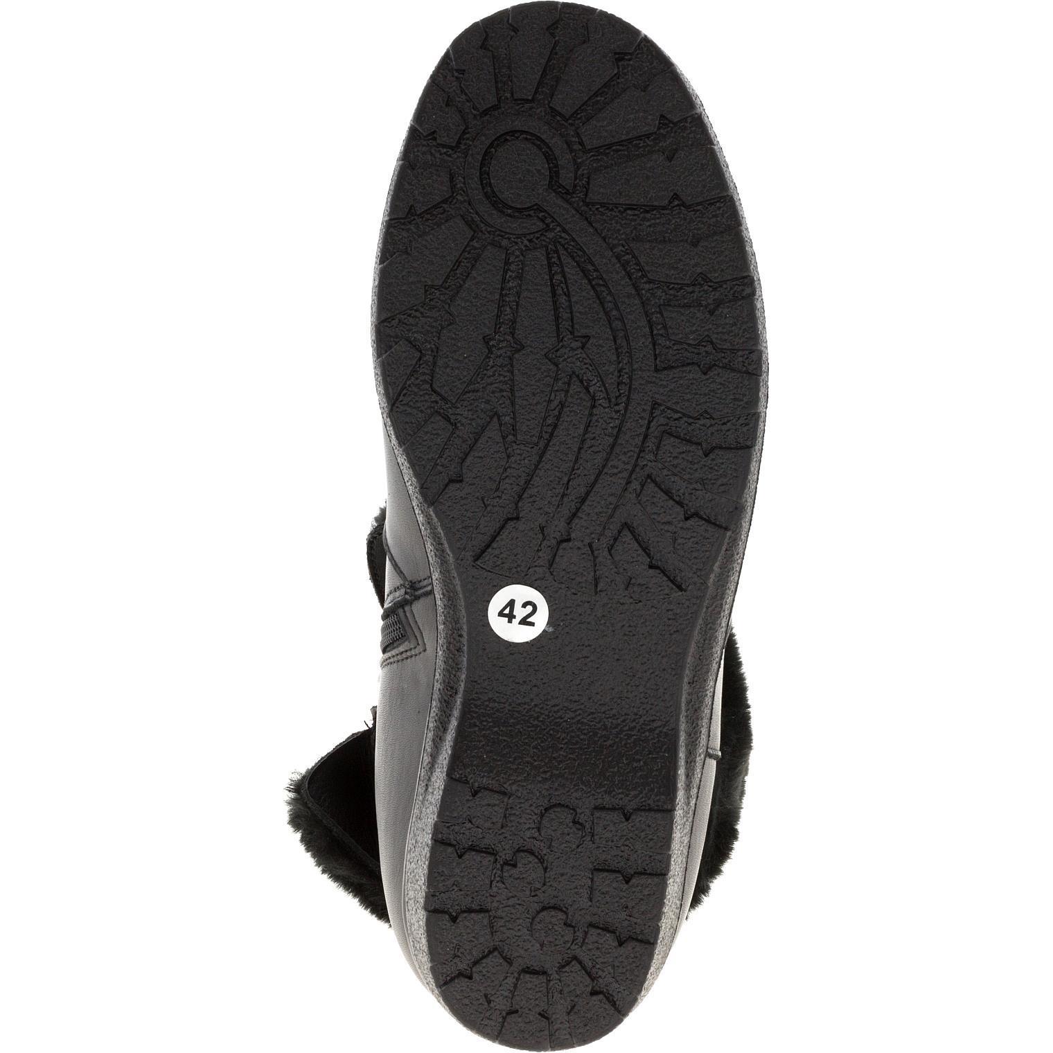 574401 Полусапожки женские черные кожа больших размеров марки Делфино