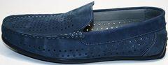 Мокасины мужские модные IKOC 1352-2 Blue.