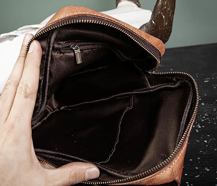 BAG444-2 Кожаный рюкзак с одной лямкой через плечо фото 14
