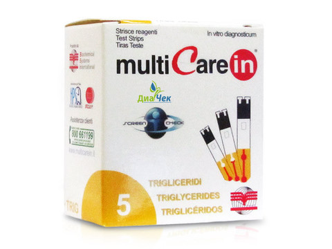 Тест-полоски Мультикэа ин (Multicare-in) Триглицериды №5