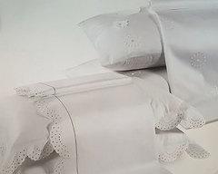 Постельное белье 2 спальное Caleffi Isabella с вышивкой