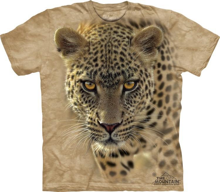 Футболка Mountain с изображением крадущегося леопарда - On The Prowl
