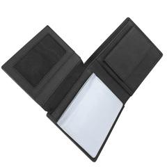 Портмоне WENGER Wildspitz, цвет черный, кожа нубук, 12×2×9,5 см