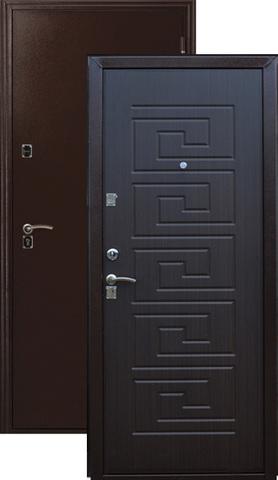 Дверь входная Меги ДС-181, 2 замка, 1,2 мм  металл, (медь+венге)