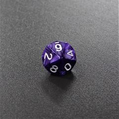 Фиолетовый мраморный десятигранный кубик (d10) для ролевых и настольных игр