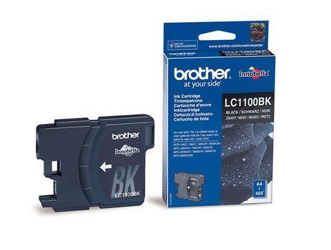 Brother LC1100BK черный картридж для принтеров Brother DCP-185C/385C, FC-490C/6890CN/990CW. Ресурс 450 стр. (5% заполнение)
