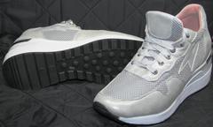 Модные кроссовки для девушек Topas 4C-8045 Silver.