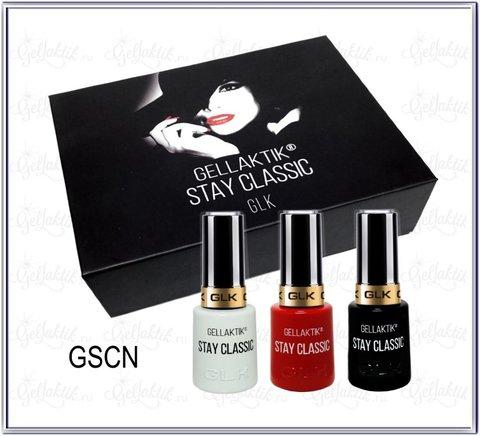 Gellaktik Stay Classic набор красный-белый-чёрный (3*12 мл)