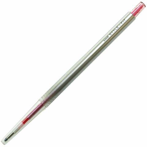 Гелевая ручка 0,5 мм Uni Style Fit - Rose Pink - красно-розовые чернила