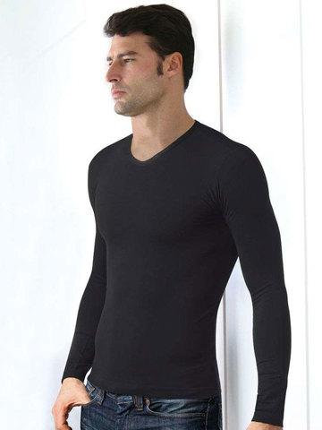 Мужская футболка T-Shirt Scollo V Manica Lunga Intimidea
