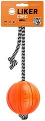 Игрушка для собак мячик ЛАЙКЕР Корд на шнуре d 7 см, PitchDog Liker