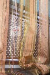 Тюль в полоску. Аида-2 (коричневый)