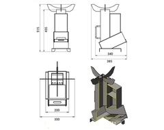 Универсальная походная печь ракета 3 (Везувий)