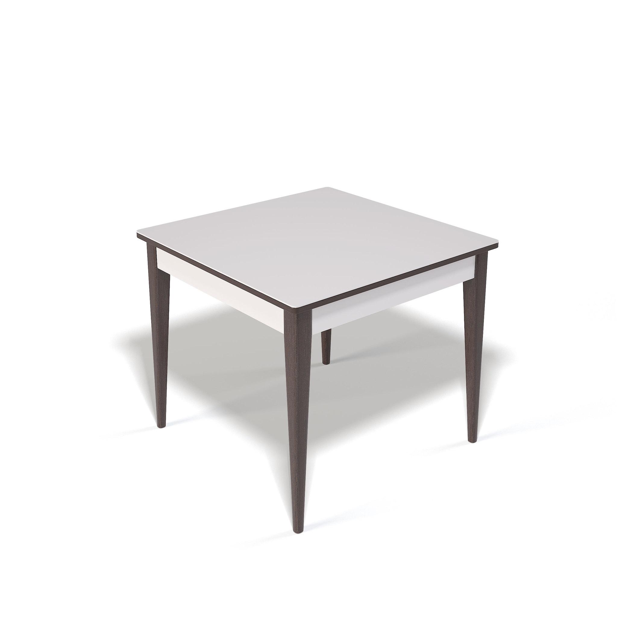 Стол Kenner T900 обеденный, раздвижной, стеклянный, венге - белый глянцевый