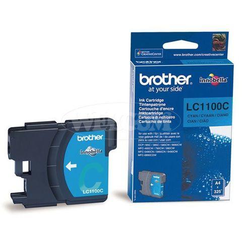 Brother LC1100C голубой картридж для принтеров Brother DCP-185C/385C, FC-490C/6890CN/990CW. Ресурс 325 стр. (5% заполнение)