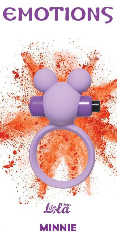 Эрекционные кольца: Сиреневое эрекционное виброколечко Emotions Minnie