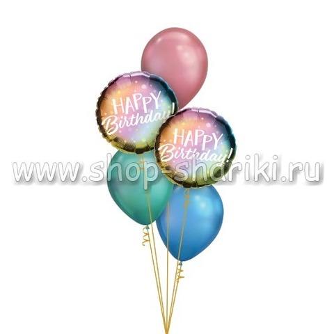 Фонтан из шаров красочный день рождения