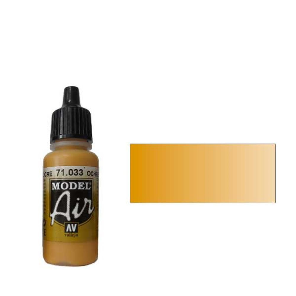 033 Краска Model Air Охра (Yellow Ochre) укрывистый,17мл