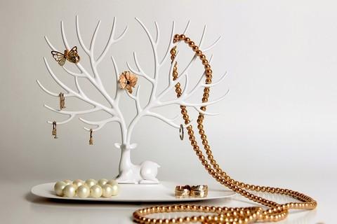 Декоративный органайзер для украшений Qualy My little Deer большой белый