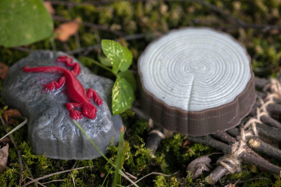 Пластиковая форма для изготовления мыла Ящерица